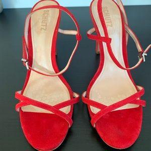 Red Schultz sandals